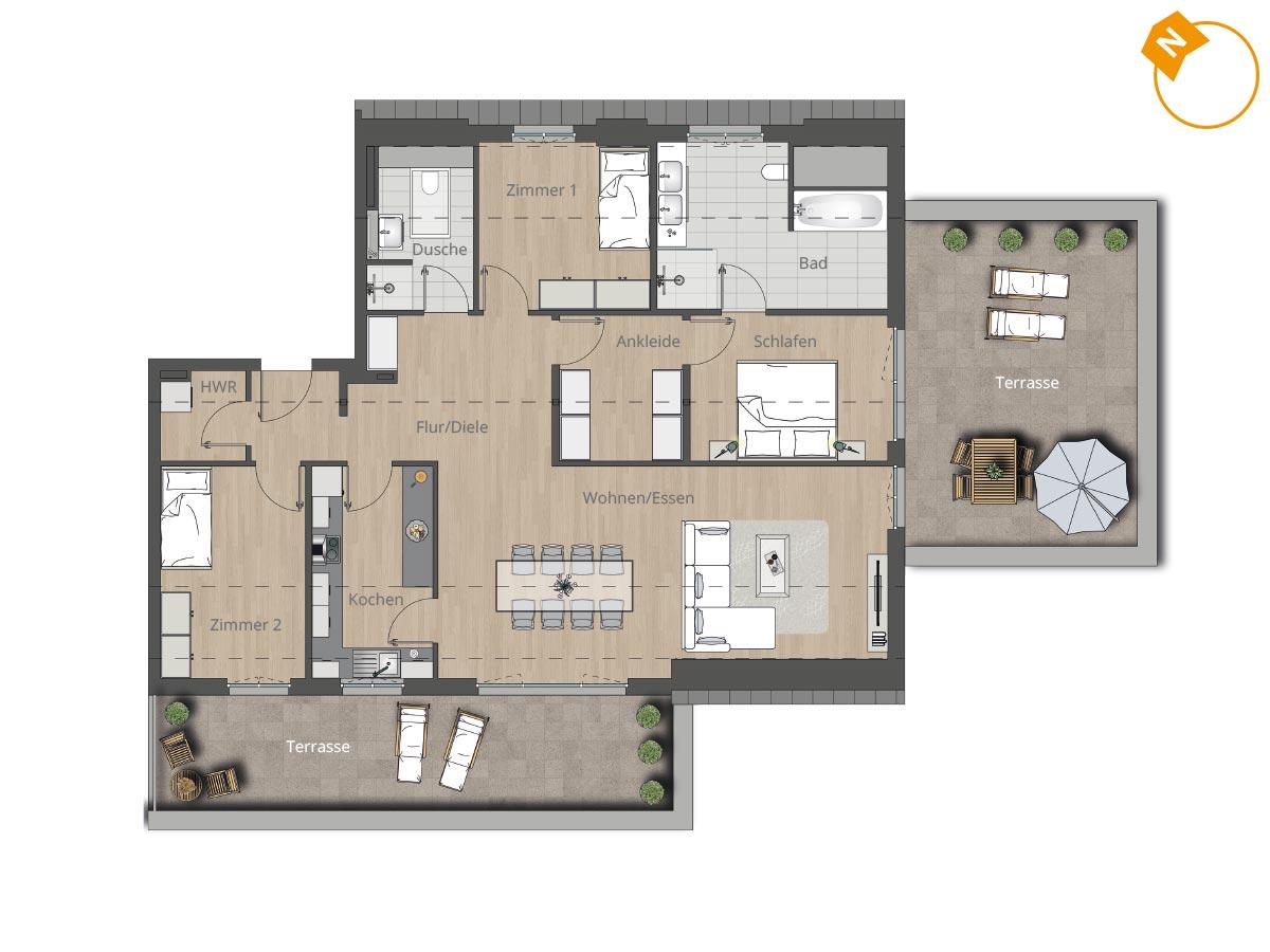 wohnung 12 brecko13. Black Bedroom Furniture Sets. Home Design Ideas