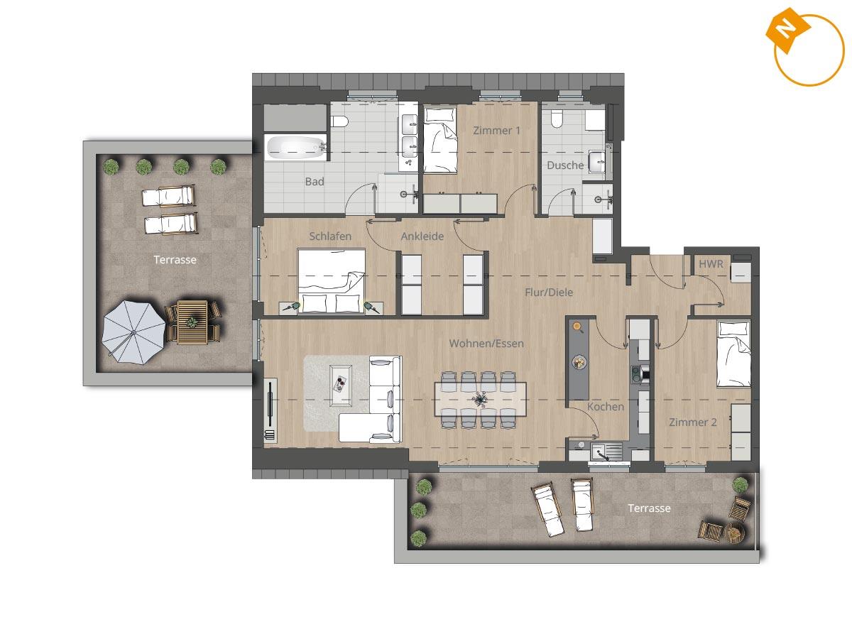 wohnung 13 brecko13. Black Bedroom Furniture Sets. Home Design Ideas